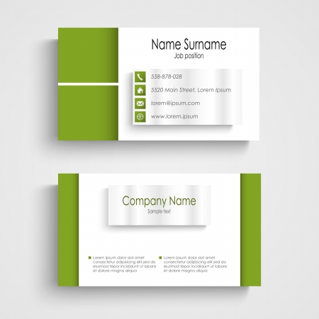 Modern green light business card template vector eps 10 royalty free modern green light business card template vector eps 10 stock vector 25298703 friedricerecipe Images