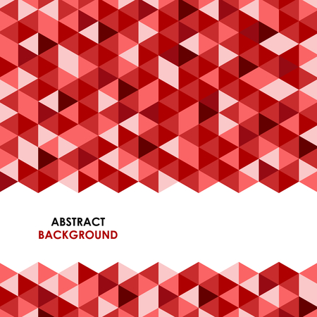 Abstract red triangle background\