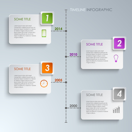 Timeline info graphic rectangle template vector eps 10 Vector