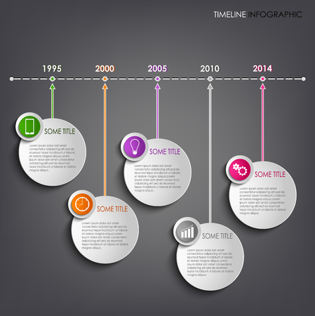 time line: Timeline info graphic round template background