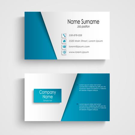 empleos: Modern luz azul tarjeta de visita plantilla vector eps 10 Vectores