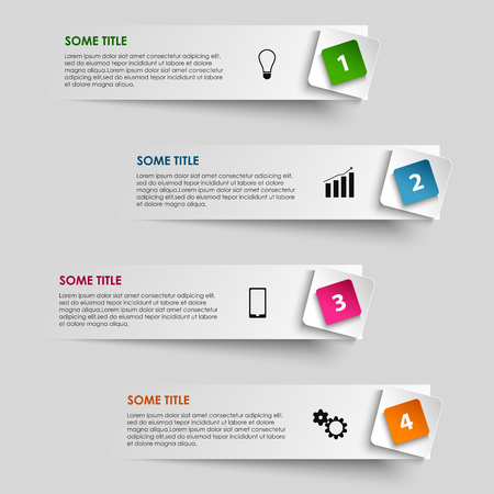 atypical: Info graphic striped with colored pointer vector eps 10