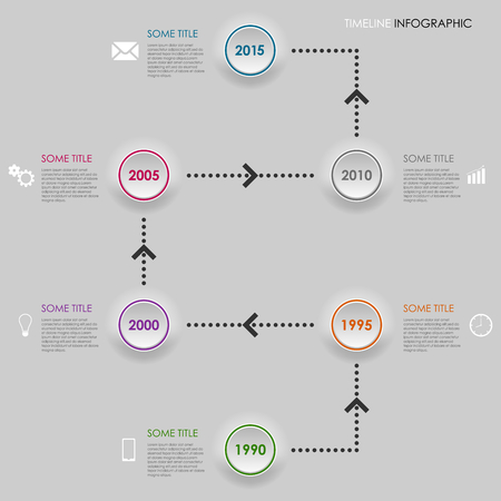 time line: Time line info graphic round element template vector eps 10 Illustration