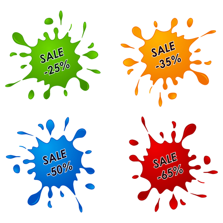 spilled paint: Discount sale pointer as the spilled paint vector eps 10