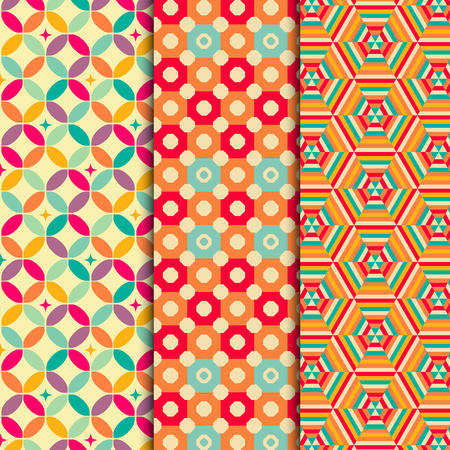 atypical: Colored geometric patterns background vector eps 10