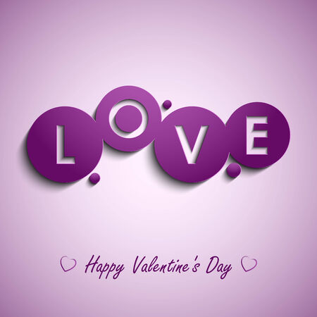 atypical: Valentines card with purple circles background vector eps 10