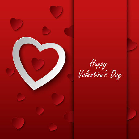 stylish couple: Valentines card with red hearts on background vector eps 10