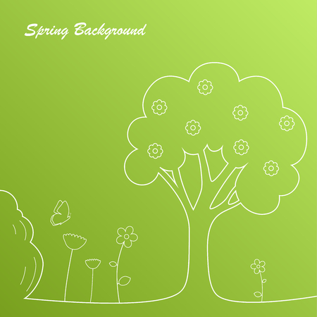 simple background: Simple green spring background template vector