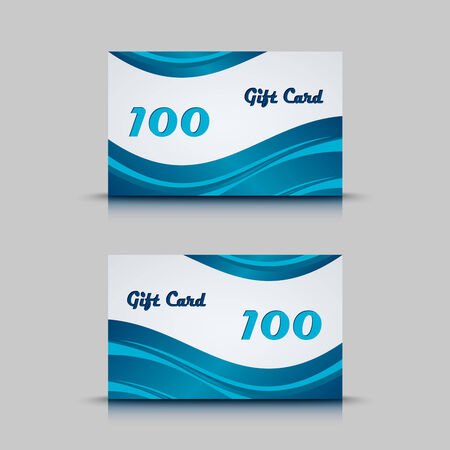 atypical: Gift card with blue abstract background vector eps 10