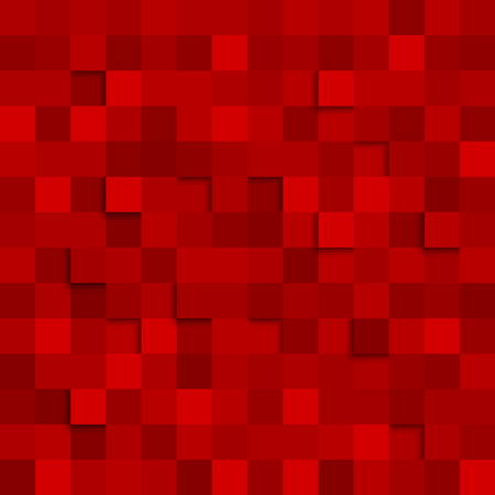 Abstract square red background vector  Illustration