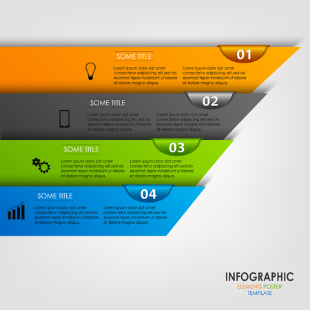 atypical: Info graphic with colored design stripes template vector eps 10