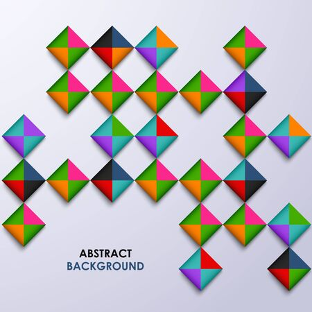 atypical: Abstract colored design square background vector eps 10 Illustration