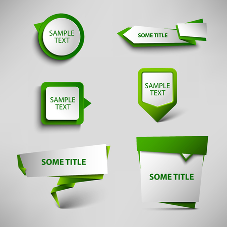 atypical: Collection green web pointers design template vector