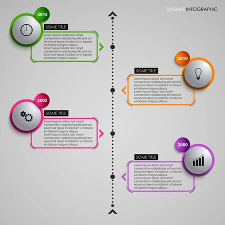 time line: Time line info graphic gray round element template vector eps 10