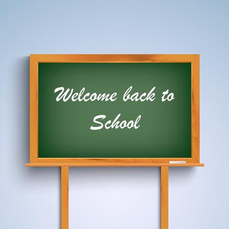 green board: Back to school on green board template vector eps 10