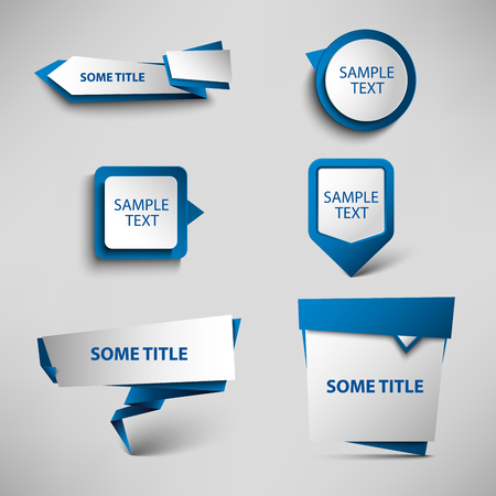 atypical: Collection blue web pointers design template vector eps 10