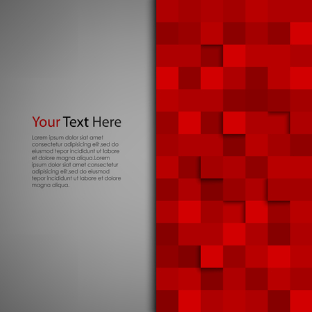 Abstract background with red square vector eps 10 Çizim