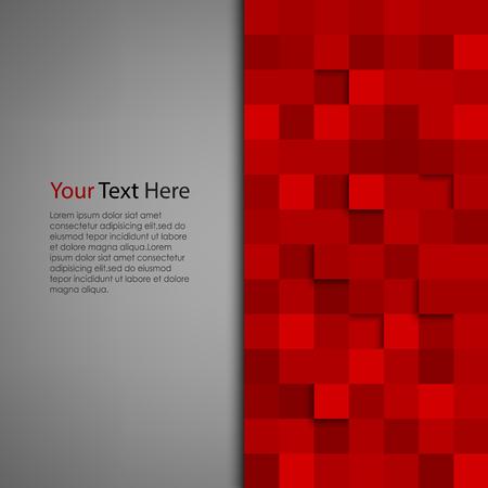 Abstracte achtergrond met rode vierkant vector eps 10 Stock Illustratie