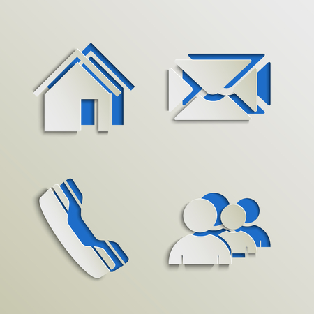 atypical: Web elements icons cut out template vector eps 10