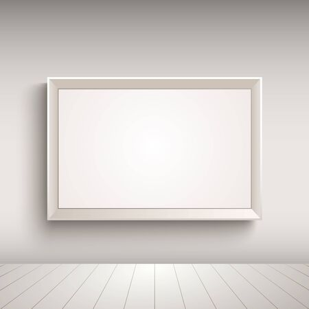 werbebande: Empty advertising board on the wall template vector