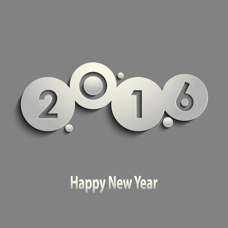 new year: Abstract gray New Years wishes with circles template vector eps 10 Illustration