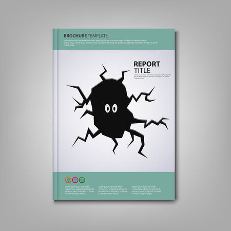 fissure: Brochures book or flyer with dark fissure template vector  Illustration