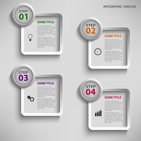 atypical: Info graphic with design square template vector Illustration