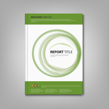 atypical: Brochures book or flyer with green abstract circles template vector eps 10