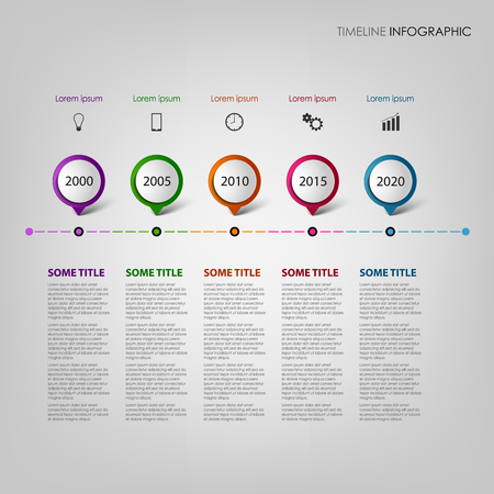 time line: Time line info graphic with design pointers template vector eps 10