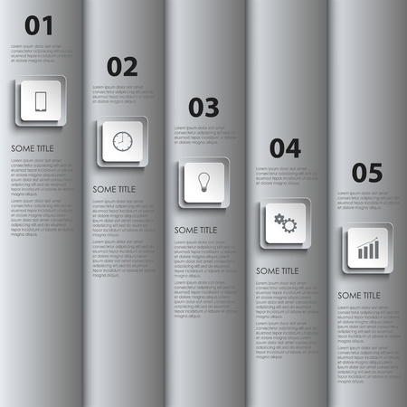atypical: Info graphic with silver stripes and design pointers vector eps 10