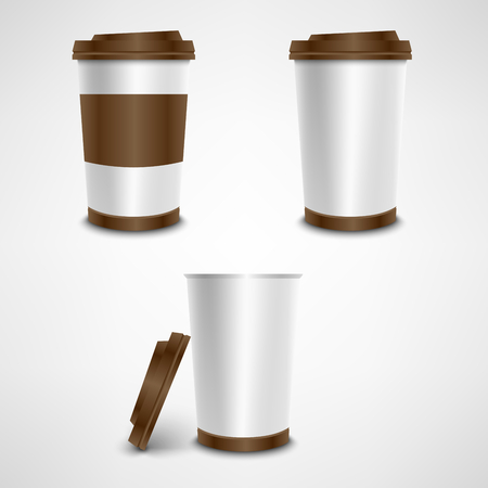 crucible: Plastic coffee cup template vector eps 10