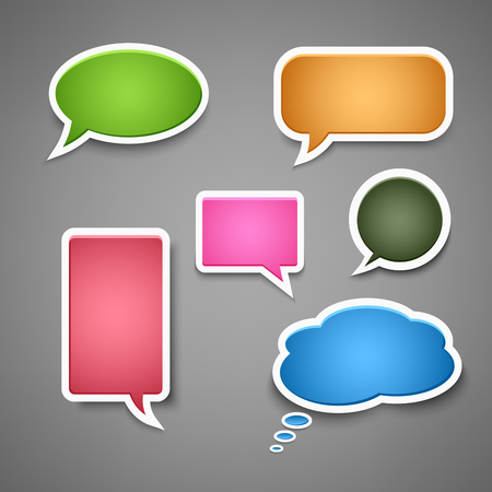 Collection colored dialog bubbles template vector eps 10 Иллюстрация