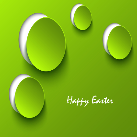 atypical: Easter card with green eggs cutouts template