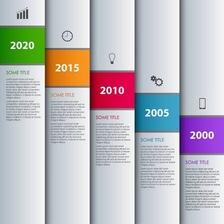 time line: Time line info graphic with stripes design template Illustration