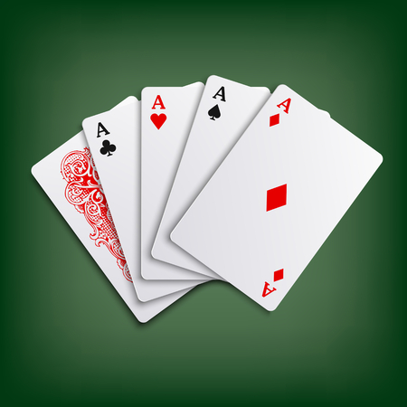 playfull: Aces poker playing cards game template Illustration