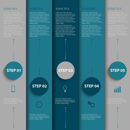 atypical: Info graphic with design blue and gray stripes template
