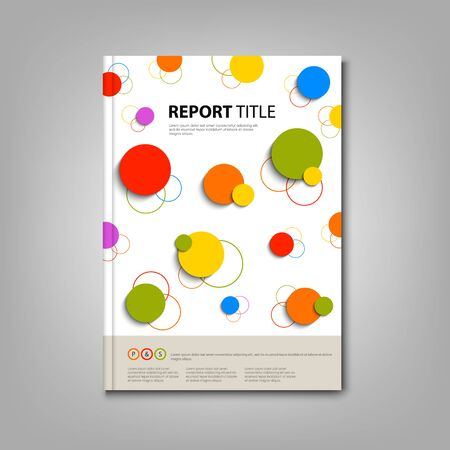 rounds: Brochures book with abstract colored rounds