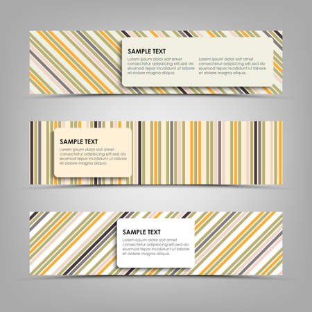 atypical: Horizontal banners with abstract stripes template