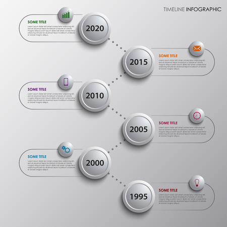 time line: Time line info graphic with design bubbles template vector