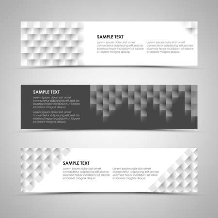 atypical: Abstract horizontal banners with design patterns vector