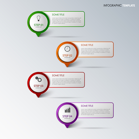 atypical: Info graphic with round design pointers template vector eps 10