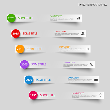 time line: Time line info graphic with bent gray stripes vector eps 10
