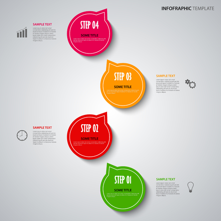 atypical: Info graphic with colored design pointers template vector eps 10