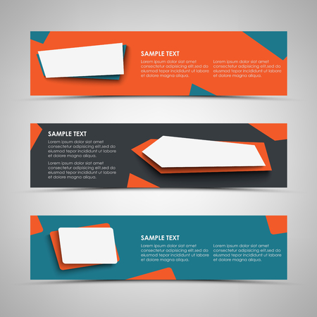 Collection banners with abstract design pointers template