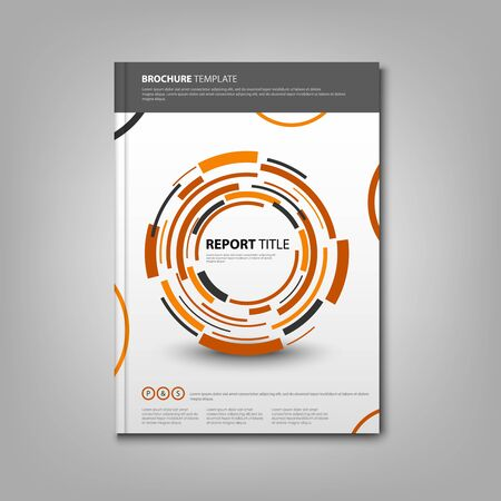Brochures book or flyer with abstract orange rounds template vector eps 10