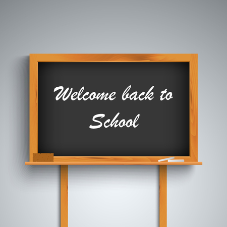Back to school on black board template vector eps 10