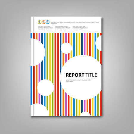 Brochures book or with colored stripes and circles template