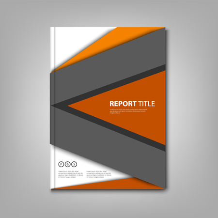 Brochures book with abstract design triangles template