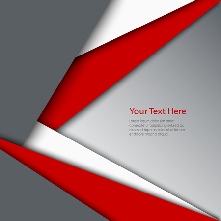 Abstract red white grey triangles background vector eps 10