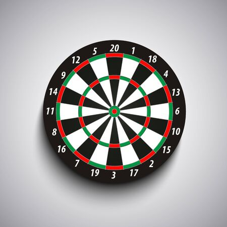 Dart board with green and red fields template vector eps 10